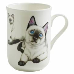 PETS Becher Siam Katze, Bone China Porzellan, in Geschenkbox
