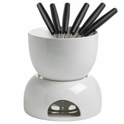 INFUSIONST Schokoladenfondue 8-teilig Weiß, Keramik, in Geschenkbox