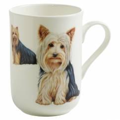 PETS Becher Yorkshire Terrier Hund, Bone China Porzellan, in Geschenkbox