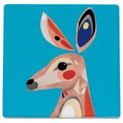 PETE CROMER Topfuntersetzer Kangaroo, 20 cm, Keramik - Kork
