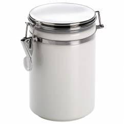 CLIP Vorratsdose Weiß, 1 l, Porzellan - Metall