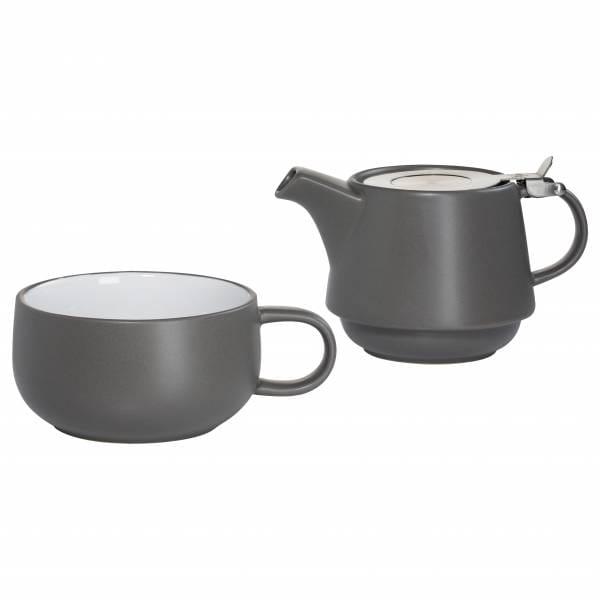 TINT Teeservice für 1 Person Dunkelgrau, Keramik