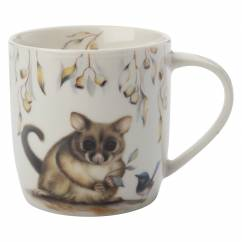 SALLY HOWELL Becher in Dose Brushtail Possum/Wren, Porzellan - Metall