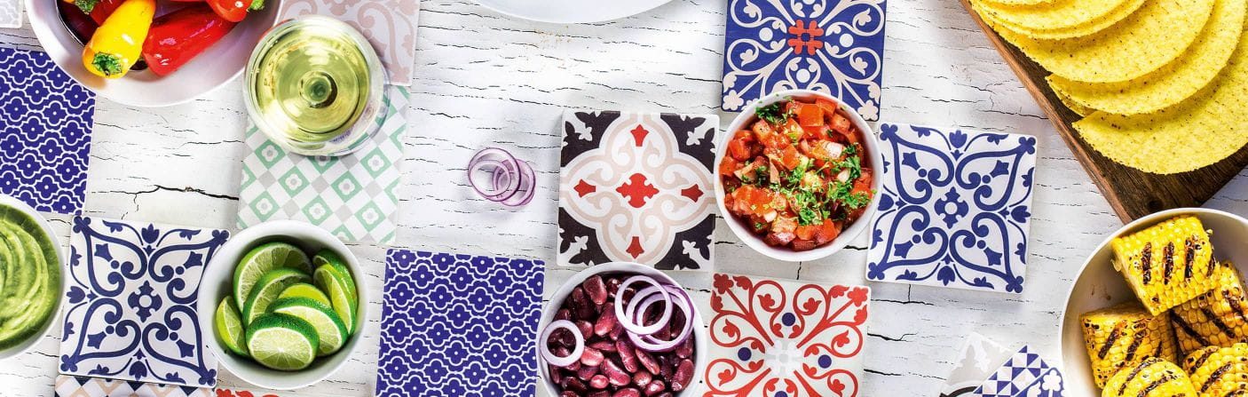 Medina – Keramikuntersetzer mit Kork