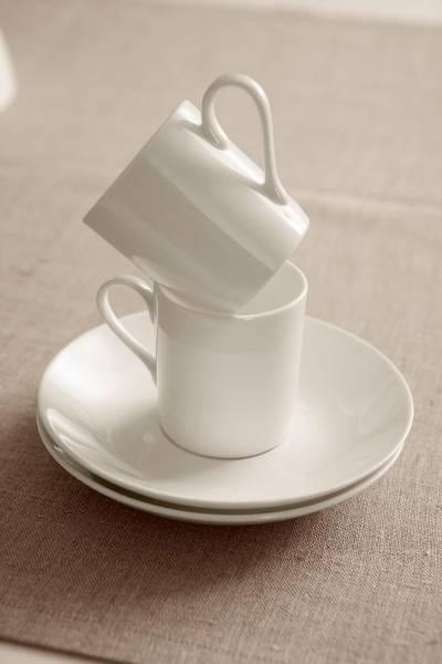 CASHMERE VILLA Espressotasse mit Untertasse 100 ml, Bone China Porzellan