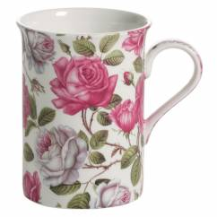 ROYAL OLD ENGLAND Becher Teerose, Bone China Porzellan, in Geschenkbox