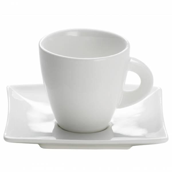 EAST MEETS WEST Espressotasse mit Untertasse 80 ml, Porzellan
