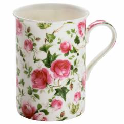 ROYAL OLD ENGLAND Becher Frühlingsrose, Bone China Porzellan, in Geschenkbox
