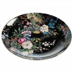 KILBURN Teller Midnight Blossom, 20 cm, Bone China Porzellan, in Geschenkbox