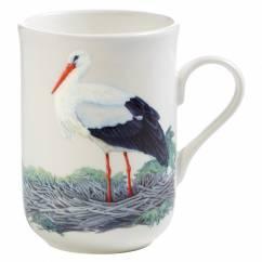BIRDS OF THE WORLD Becher Storch, Bone China Porzellan, in Geschenkbox
