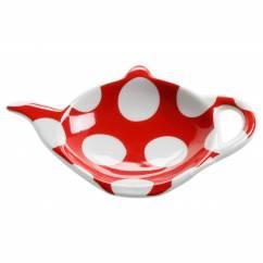 POLKA DOT Ablage für Teebeutel Rot, Porzellan