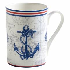 NAUTICAL Becher Anker, Bone China Porzellan, in Geschenkbox