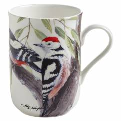 BIRDS OF THE WORLD Becher Specht, Bone China Porzellan, in Geschenkbox