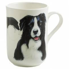 PETS Becher Border Collie Hund, Bone China Porzellan, in Geschenkbox