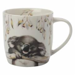 SALLY HOWELL Becher in Dose Koala, Porzellan - Metall