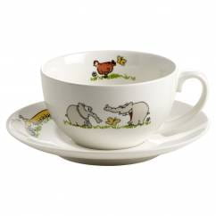 OTTIFANTEN Kaffeetasse mit Untertasse 180 ml, Bone China Porzellan, in Geschenkbox