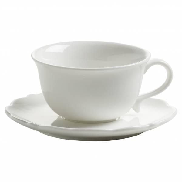 WHITE ROSE Espressotasse mit Untertasse, Porzellan